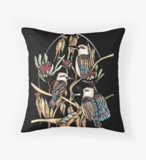 The laughing Australian Throw Pillow