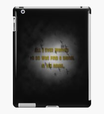 Signal in the noise iPad Case/Skin