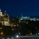 Edinburgh Castle by night by tayforth