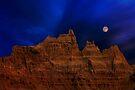Blue Moon over Badlands National Park by Alex Preiss