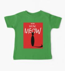 MEOW MEOW MEOW on red Kids Clothes