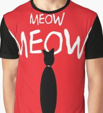 MEOW MEOW MEOW on red Graphic T-Shirt