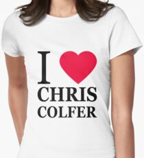 I love Chris Colfer Women's Fitted T-Shirt