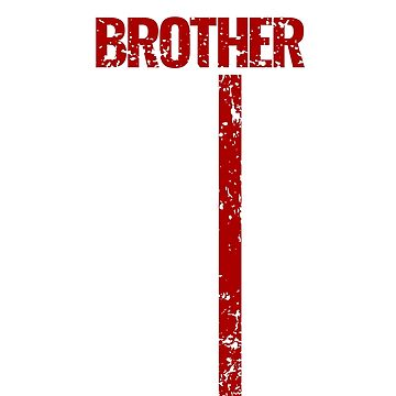 Proud Brother Thin Red Line Firefighter Shirt by Dmurr