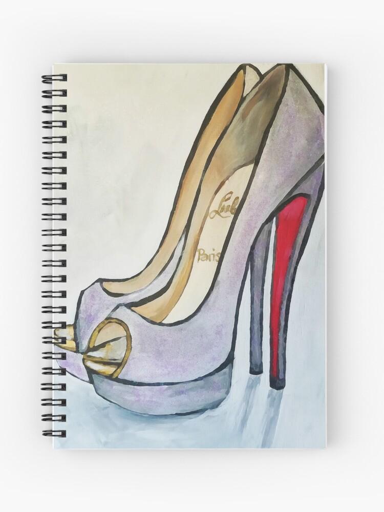 sale retailer ad1f2 36415 Peep Toe Purple Glitter Sparkle Christian Louboutin High Heels   Spiral  Notebook