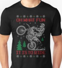 Dirt Bike Ugly Christmas Unisex T-Shirt