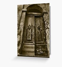 Old door Greeting Card