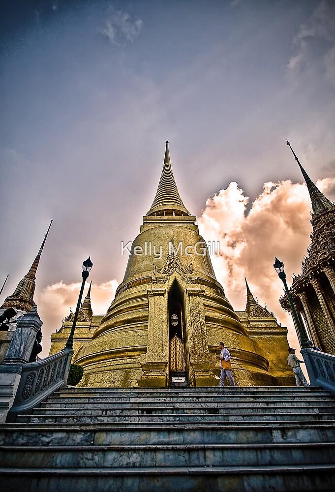 Golden Temple, Grand Palace - Bangkok Thailand by Kelly McGill