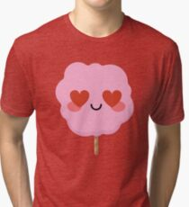 Cotton Candy Emoji   Tri-blend T-Shirt