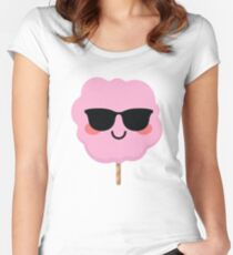 Cotton Candy Emoji   Women's Fitted Scoop T-Shirt