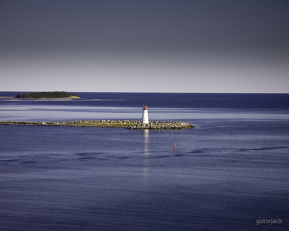 Lighthouse Leaving Halifax by gatorjack