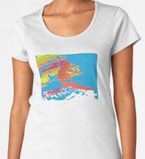 Surfing the Waves Women's Premium T-Shirt