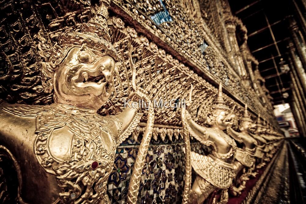 Wat Phra Kaew, Bangkok Thailand by Kelly McGill