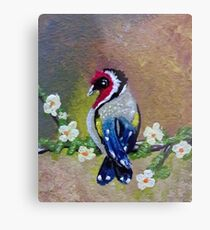 Bird on Flower III Metal Print