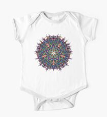 Energy Mandala of 4D Hyperspace Visuals - Psychedelic Sacred Geometry Meditation Focus  One Piece - Short Sleeve