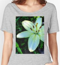 Yellow Lily Flower Women's Relaxed Fit T-Shirt