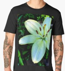 Yellow Lily Flower Men's Premium T-Shirt