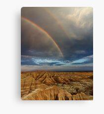 Rainbow over Badlands National Park Canvas Print