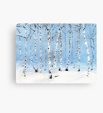 Late Afternoon Snowstorm in the Forest Canvas Print