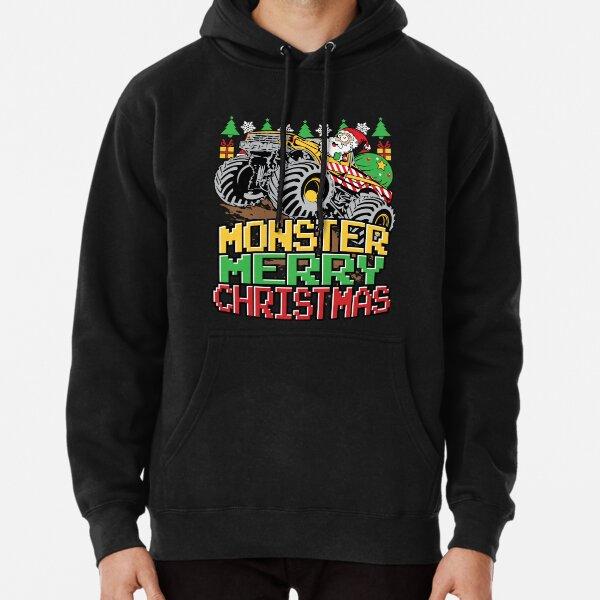 Santa Claus Monster Truck Christmas Pullover Hoodie