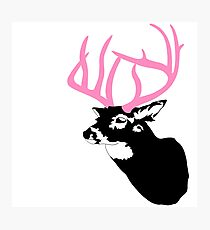 Deer with pink antler from GTA V - deer with pink antlers Photographic Print