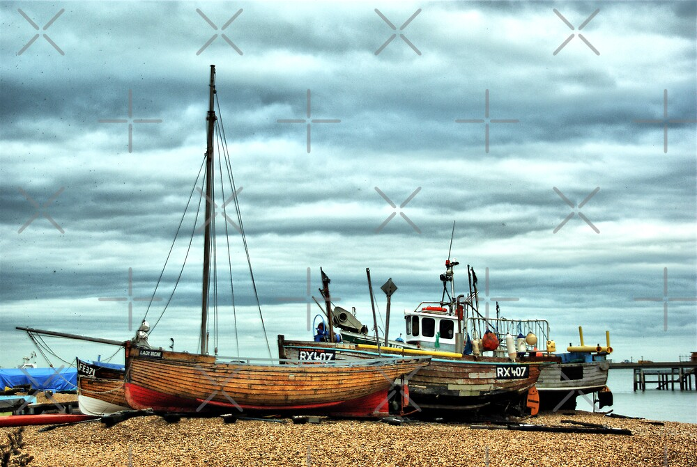 Boats at Deal1 by Catherine Hamilton-Veal  ©