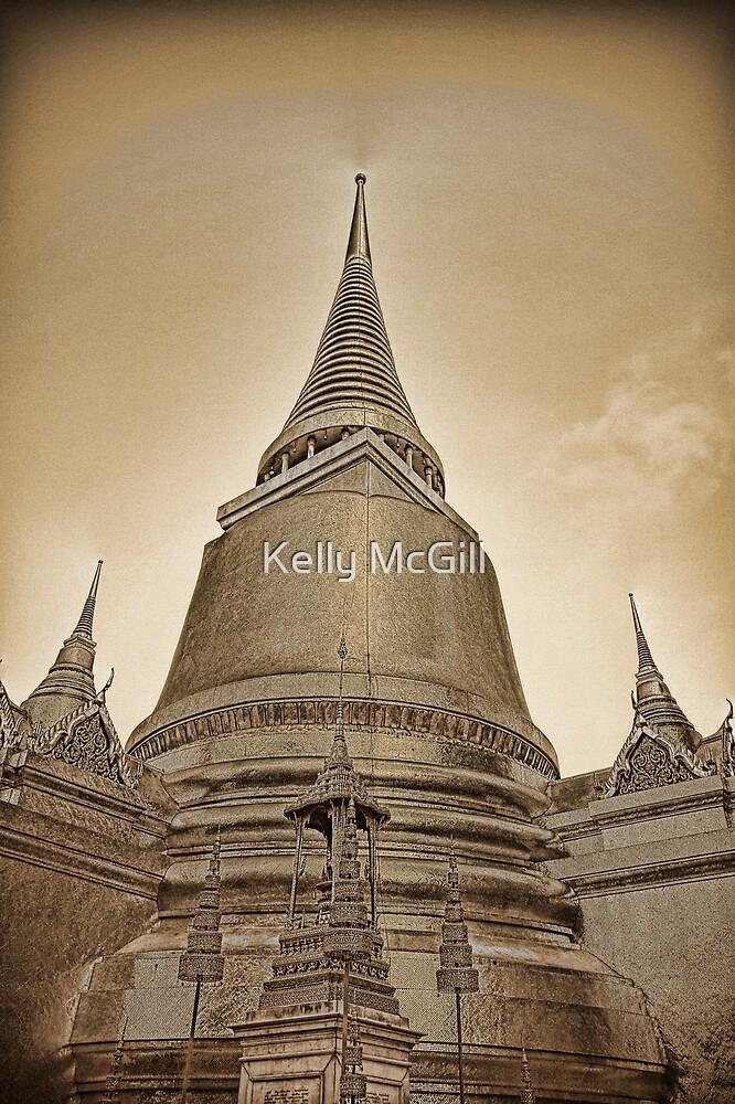 Phra Sri Ratana Chedi, Bangkok Thailand by Kelly McGill