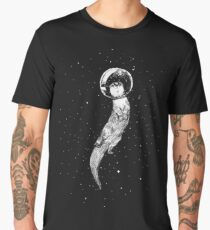 Drifting in Otter Space (best for color) Men's Premium T-Shirt