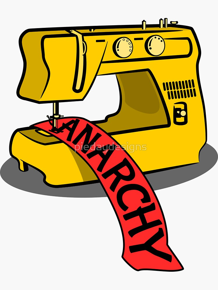 Anarchy Sewing Machine by piedaydesigns