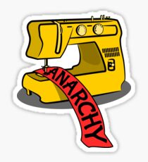 Anarchie Nähmaschine Sticker