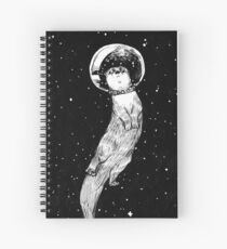 Drifting in Otter Space Spiral Notebook