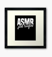 ASMR - Stress Relief Framed Print