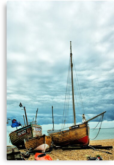 Boats at Deal 3 by Catherine Hamilton-Veal  ©