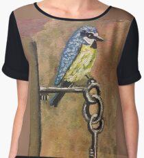 Bird on Keys  Chiffon Top