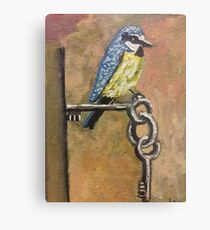 Bird on Keys  Metal Print