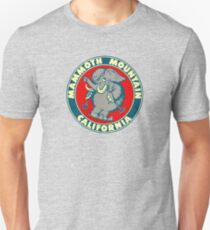 Mammoth Mountain California Skiing Vintage Travel Decal Unisex T-Shirt