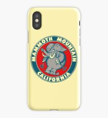 Mammoth Mountain California Skiing Vintage Travel Decal iPhone Case/Skin