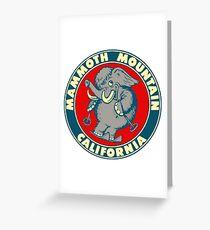 Mammoth Mountain California Skiing Vintage Travel Decal Greeting Card