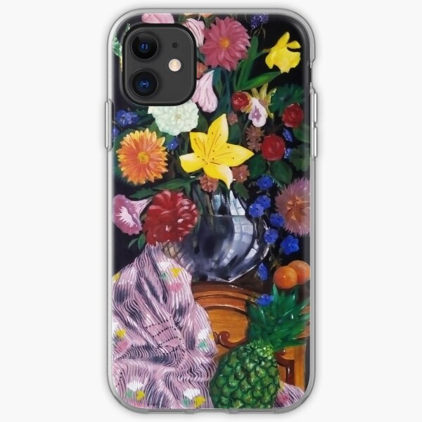 Aso-Oke and flowers- still-life iPhone Soft Case