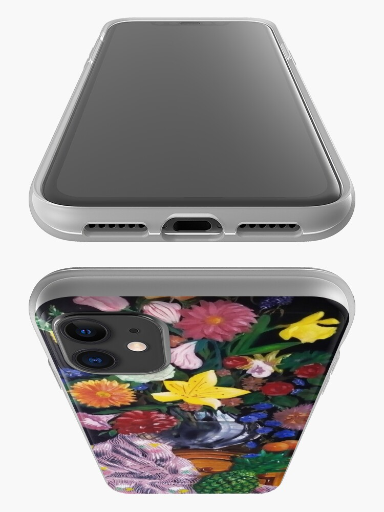Alternate view of Aso-Oke and flowers- still-life iPhone Case