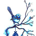 Christmas Blue Bird by Linda Callaghan