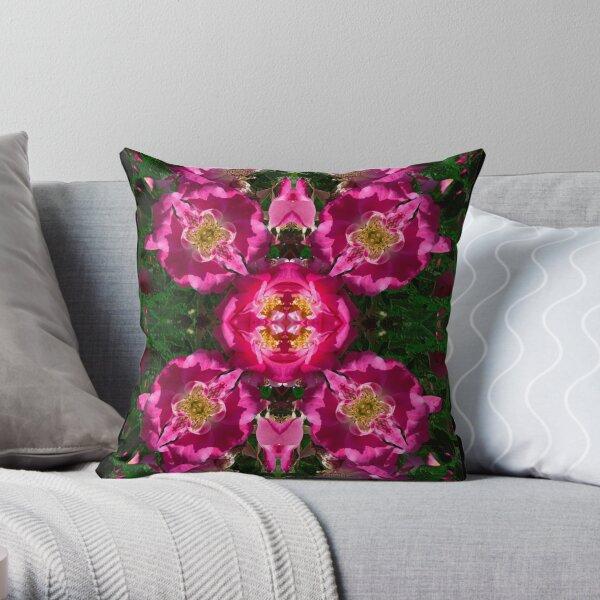 Inkblot - Roses Throw Pillow
