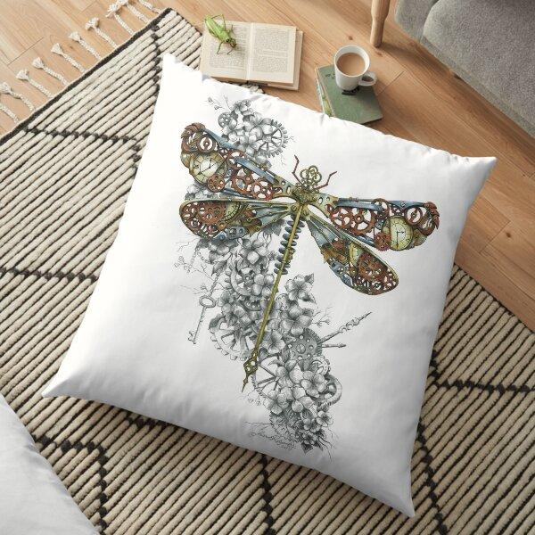 """Clockwork Dragonfly"" Floor Pillow"