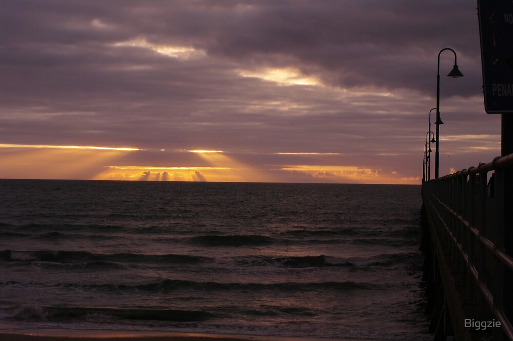 Glenelg Sunset by Biggzie