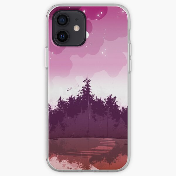 lesbian pride forest iPhone Soft Case
