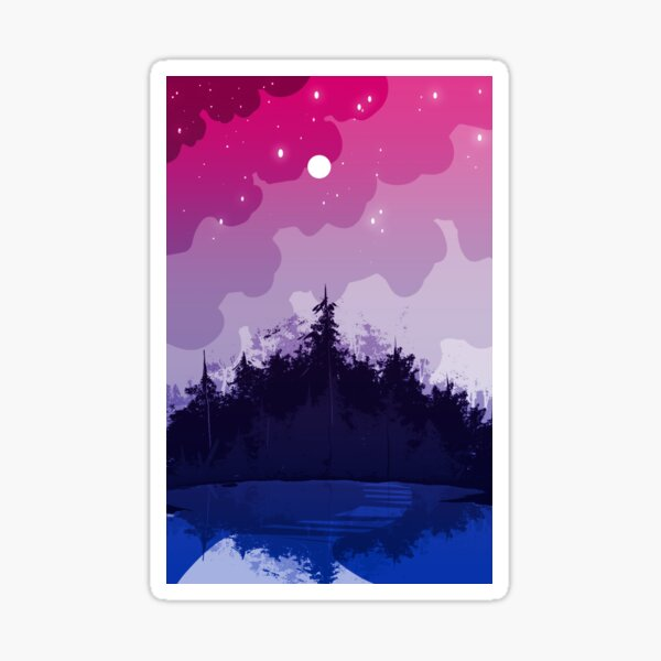 bi pride forest Sticker