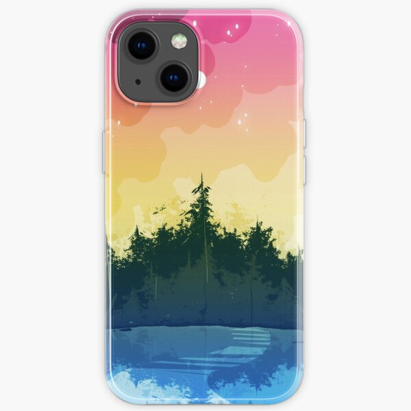 pansexual pride forest iPhone Soft Case