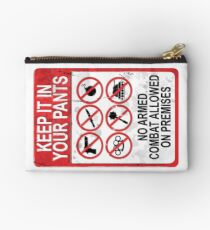 Yackley's Keep It In Your Pants Sign - Demon of the Underground Studio Pouch