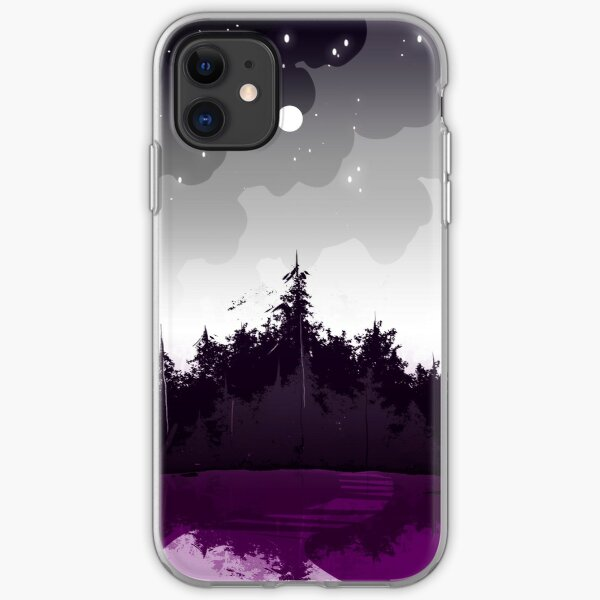 asexual pride forest iPhone Soft Case