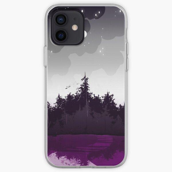 forêt de la fierté asexuée Coque souple iPhone